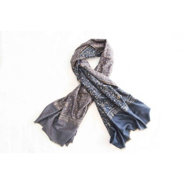 Reversible pashmina hand embrodery