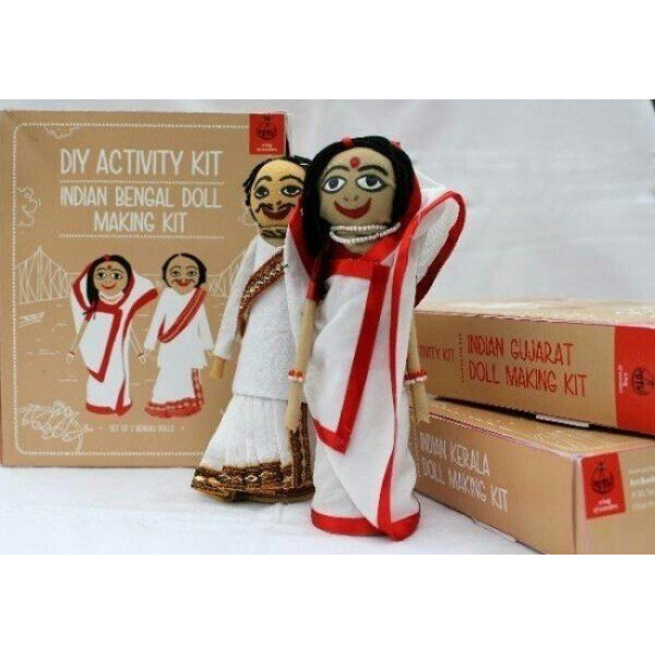 DIY Bengali Doll Making Kit with Traditional Costumes