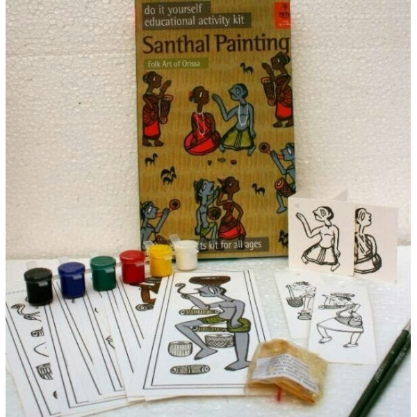 DIY Indian Traditional Painting Kits: Santhal Painting of Orissa