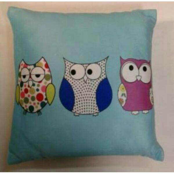 Owl Cushion Blue