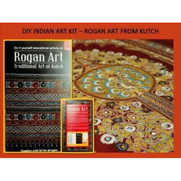 POTLI Handmade DIY Educational Colouring Kit - Rogan Art of Kutch for Young Artists (5 Years +)