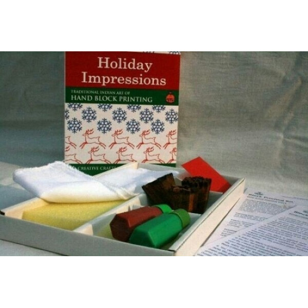 DIY Hand Block Printing Kit: Holiday Impressions