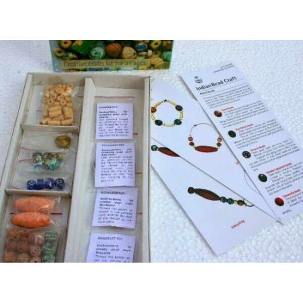 POTLI Handmade DIY Educational Kit - Indian Traditional Beads Craft kit for ( 5 Years +)