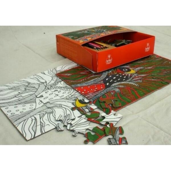 Colour Me Zigsaw Puzzles: Madhubani