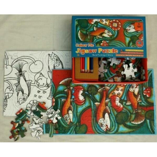 Colour Me Zigsaw Puzzles: Kerala Mural