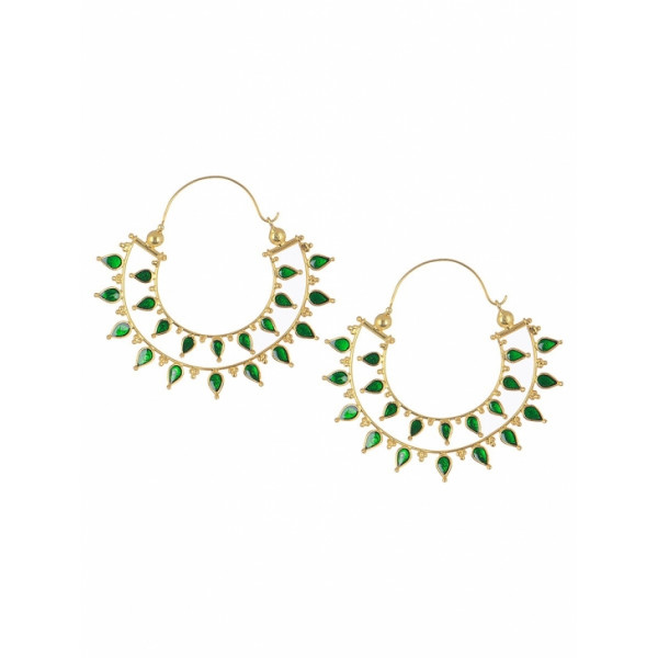Zara silver leaf earings
