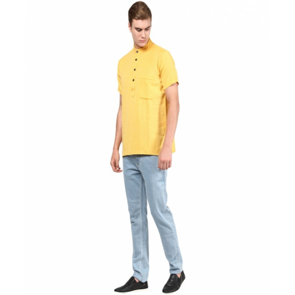 Mens Yellow Kurta Shirt