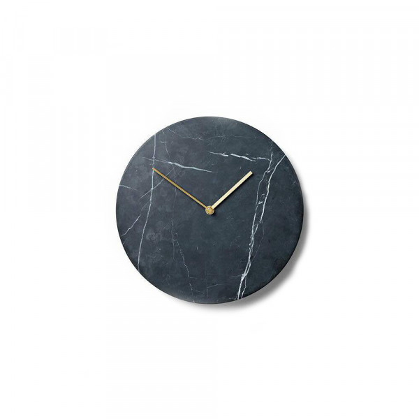 Ages Art Marble Black Wall Clock