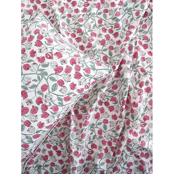 Bougainvillea - Pink Double Bedsheet