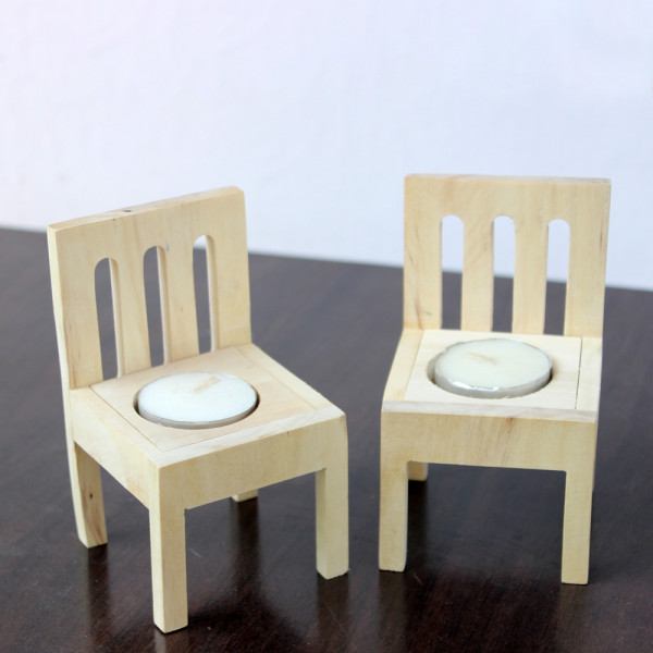 Chair Tea Light Candles