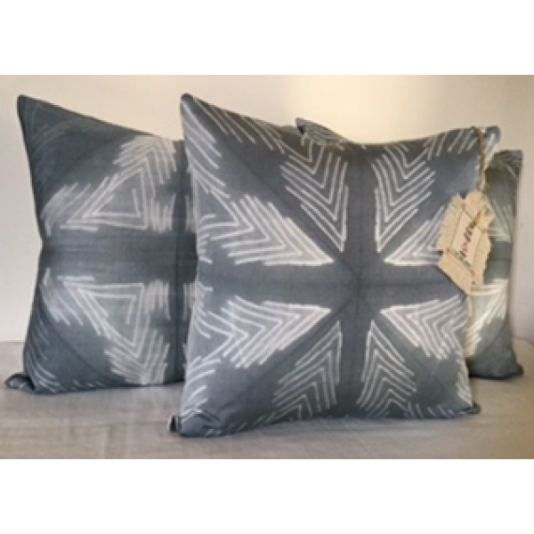 SHIBORI DYED TUSSAR NEPS CUSHION COVERS  SET OF 3 PC