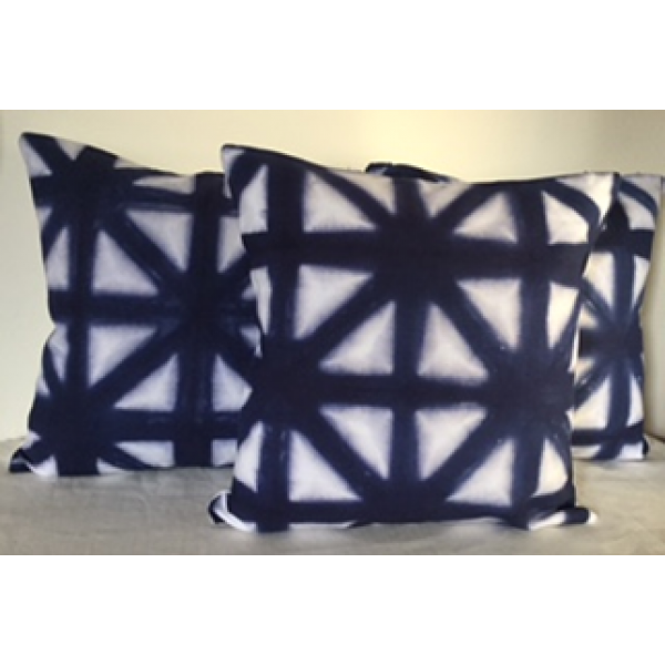 CLAMP DYED KHADI CUSHION COVERS  SET OF 2 PC