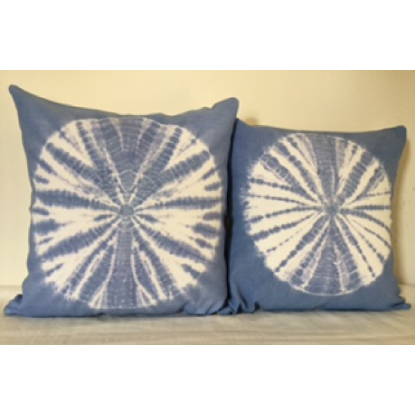 BHANDANI DYED   KHADI CUSHION COVERS  SET OF 2 PC