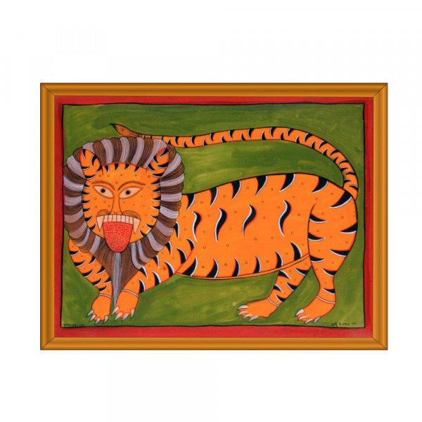 Pattachitra Lion Painting