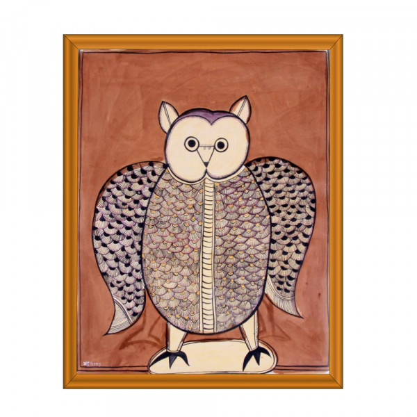 Pattachitra Owl Painting