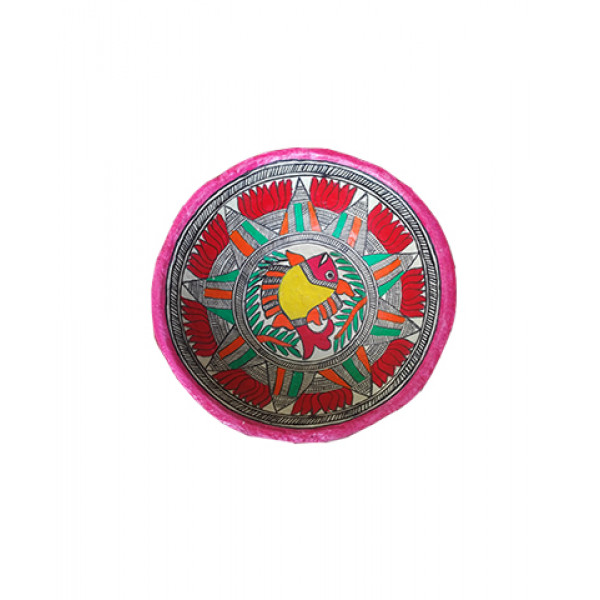 Madhubani Art - Papre Mache Colorful Basket