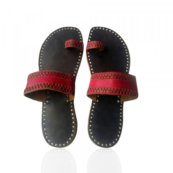 Handmade Camel Leather Footwear for Women
