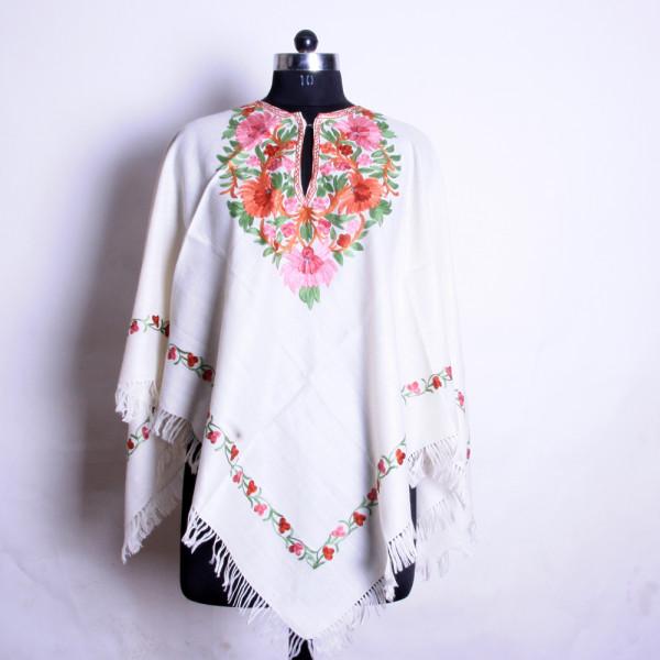 Poncho Aari Work Woolen