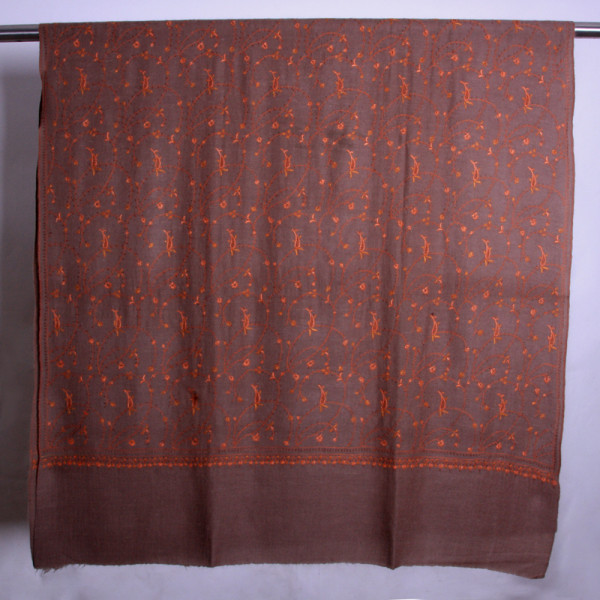 Semi Pashmina All over Embroidered  Shawls