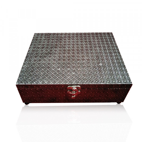 Wood Box laminated with Copper Alunimum Set of 100