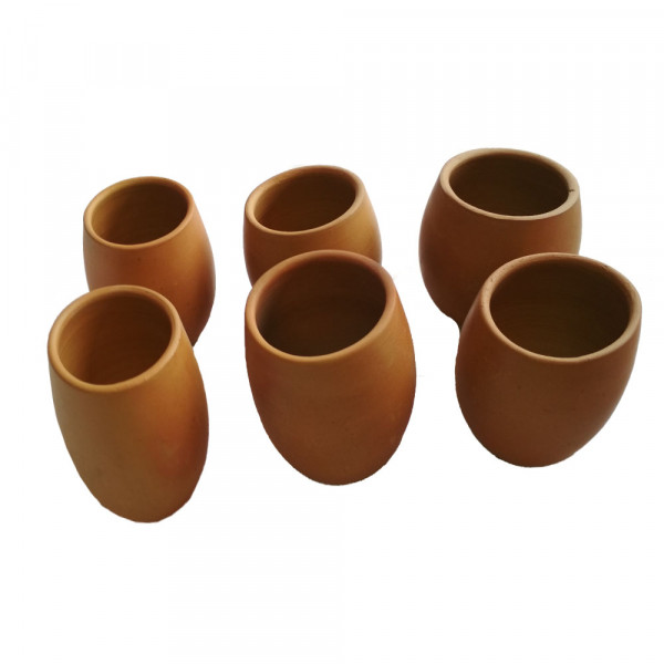 Clay Terracotta Cups (Set Of 6)