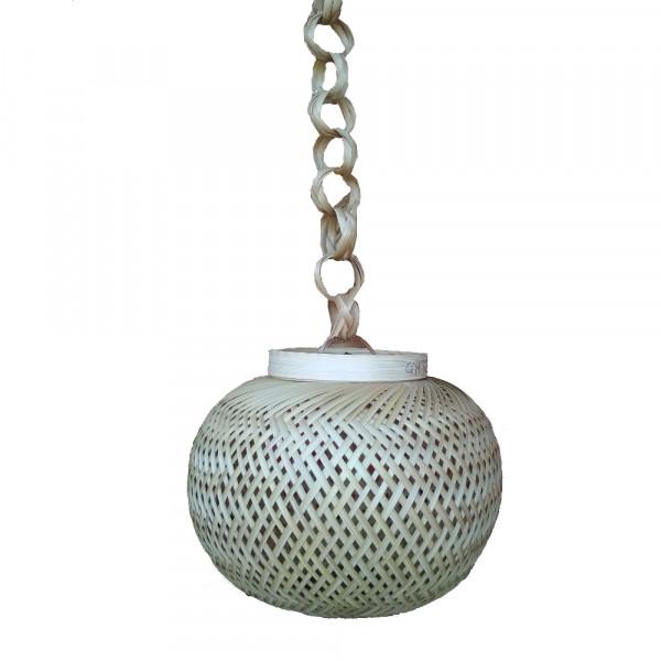 Bamboo Globe Hanging Lamp