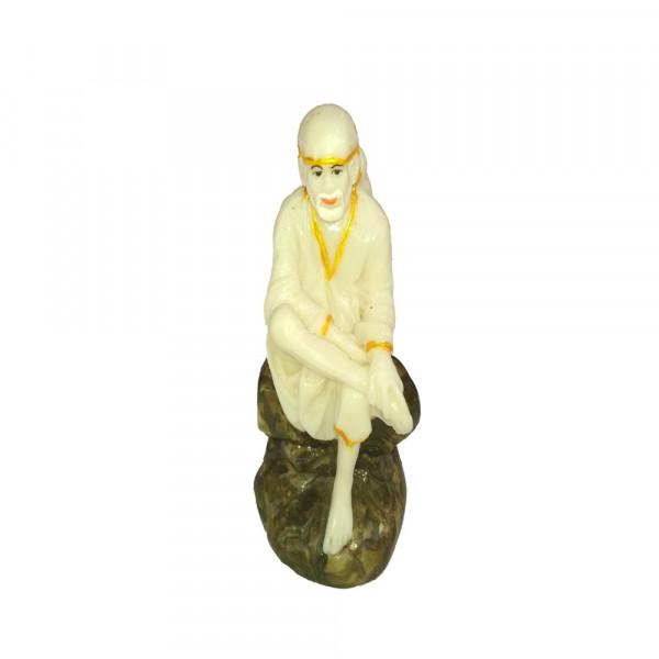 Lord  Sai Baba White Porcelain Marble