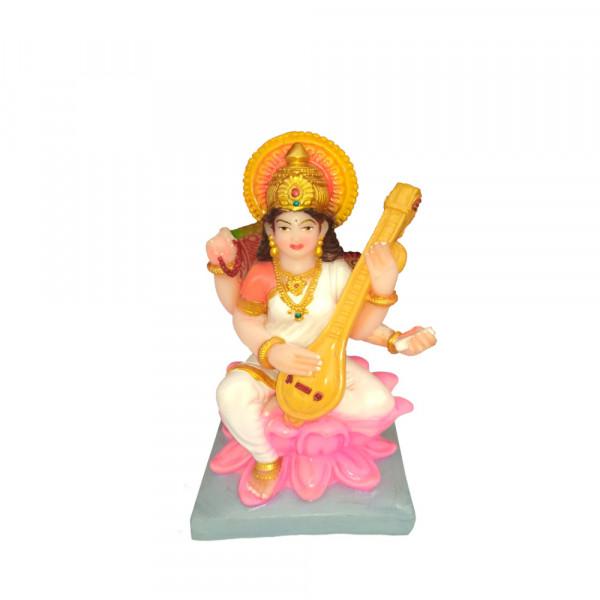 Porcelain Marble Lord  Saraswati  Statue