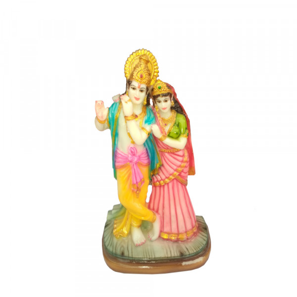Porcelain Marble Lord  Radha krishna Statue