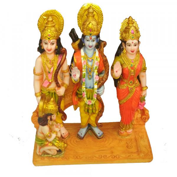 Porcelain Marble Lord  Shri Ram Sita Lakshman Hanuman Statue