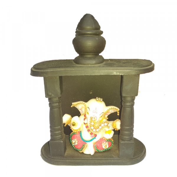 Porcelain Marble Lord  Ganesh Statue
