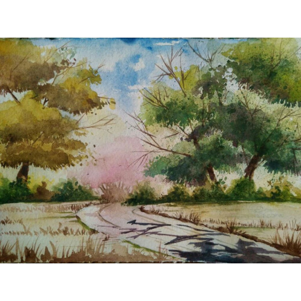 Shree Kabra's Water Colour Painting