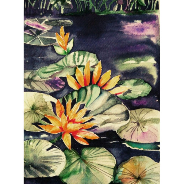 Shree Kabra's  Landscape Water Colors Hand Painting