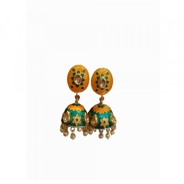 Copper Multi Colour  Jhumka