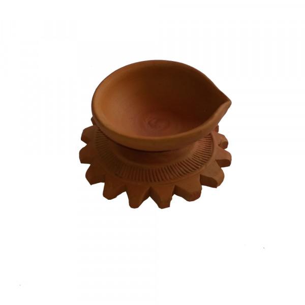 Terracotta Diyas (Set of 4)