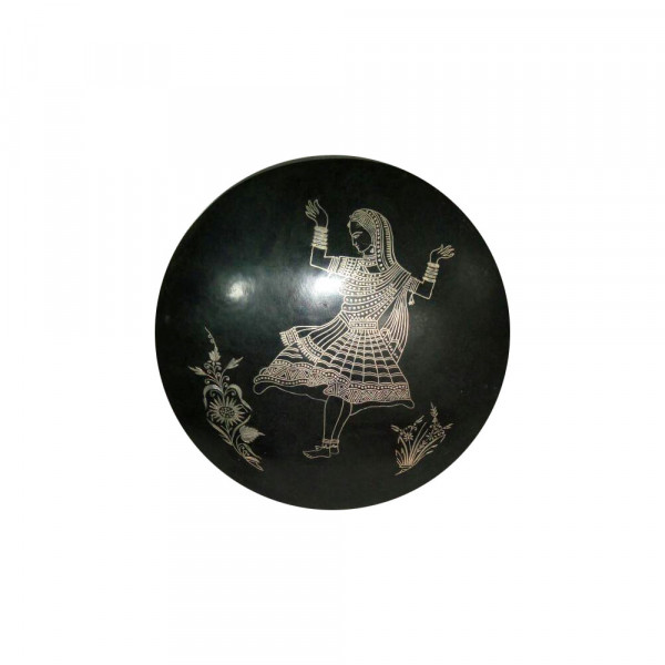Jabeen Silver Inlay Dancing girl