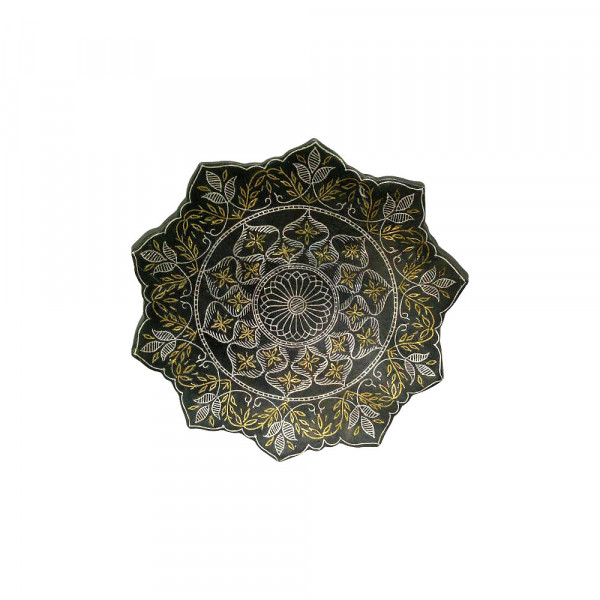 Jabeen Silver & Gold Inlay Floral design antique