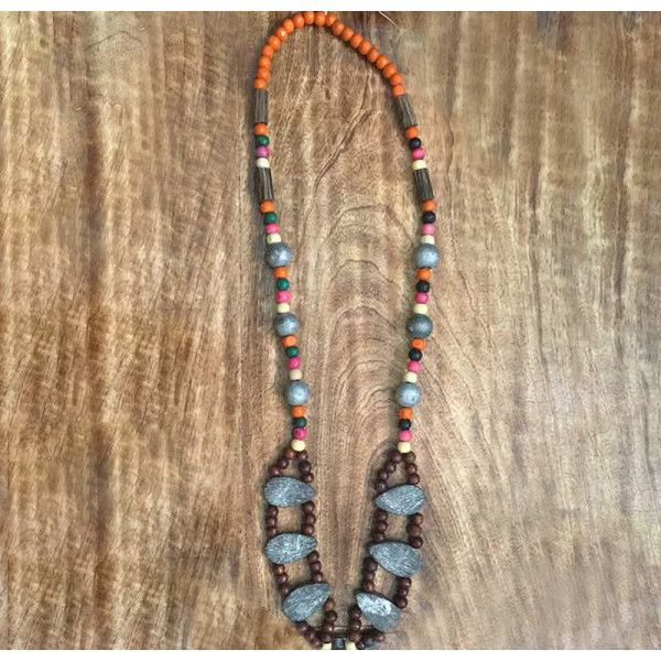 Rifaqat Ali Wooden necklace