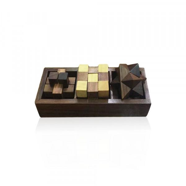 Rifaquat Ali wooden set of 3 puzzle game
