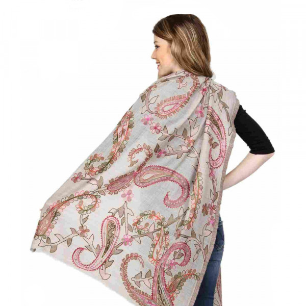 Sankam International Ari Embroidery Woollen Stole
