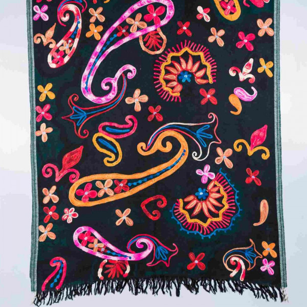 Sankam International Ari Embroidery Woollen Stole
