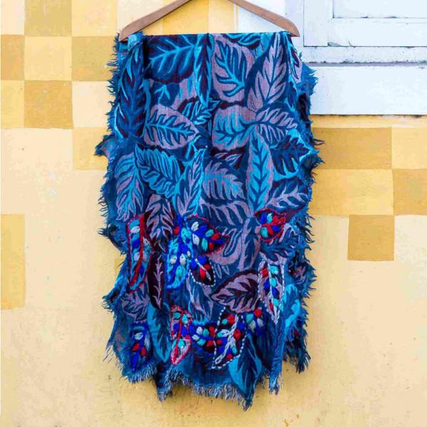 Sankam International Hand Embroidered Woollen Stoles