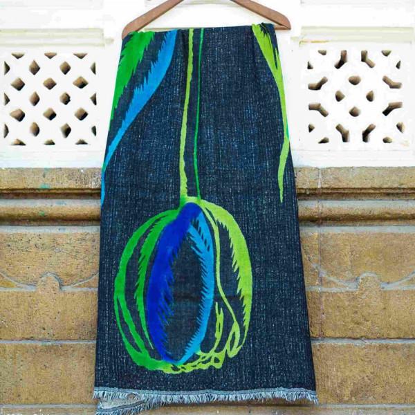 Sankam International Hand Painted Woollen Stole