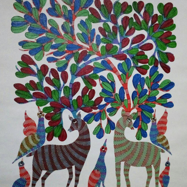 Vijay shyam Tribal Gond painting