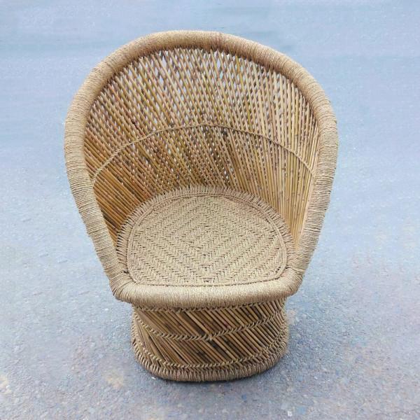Natural Round Shaped Sarkanda Rope Chair