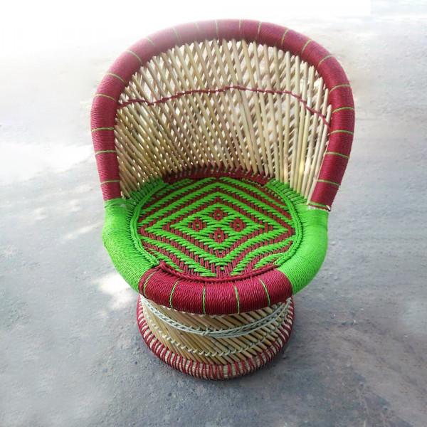 Natural Round Shaped Sarkanda Nylone Chair