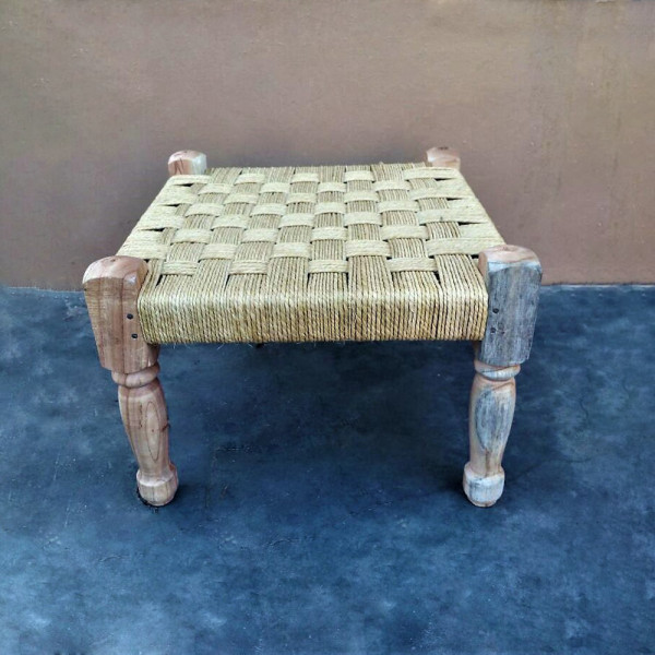 Natural Wooden Rope Stool