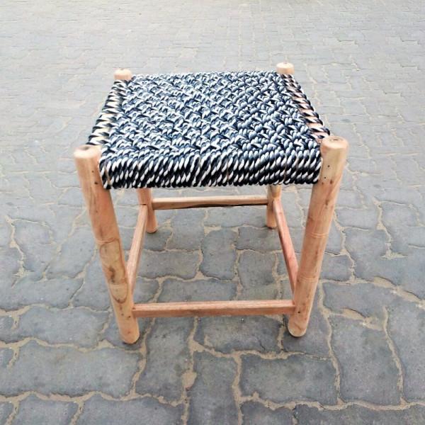 Natural Chindi Wooden Stool