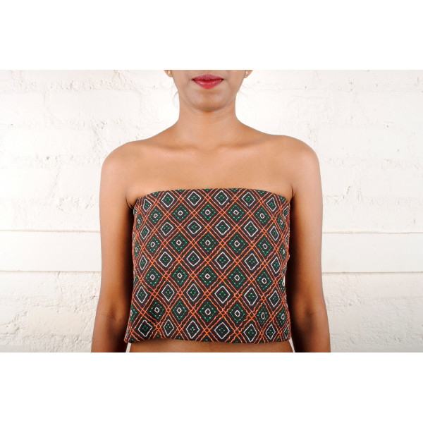 Sabala Handicraft Hand Embroidered Blouse Piece