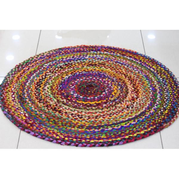Gupta creations Multicolored Round Rug